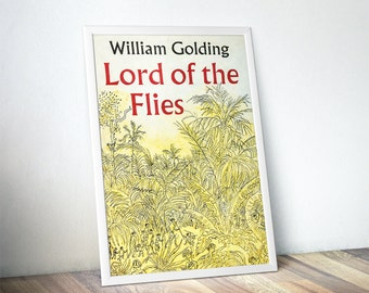 Lord of the Flies Book Lover Gift, Book Covers, Book Cover Posters, Literary Prints, Gifts for Readers, Bookish, Bookworm Gifts