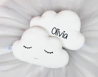White Cloud Pillow, White Cloud Cushion - Personalized Pillow, Pillow With Name, Personalized Cloud Pillow, Personalized Gift, Baby Pillow