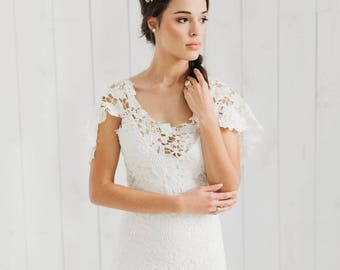 Petunia / Bohemian Wedding Dress / Boho romantic crochet gown/ boho gown / crochet