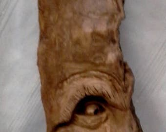Spectacular Large Hand Carved Cottonwood Bark Evil Spirits Horned Demon From Hell