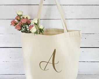 Bridesmaid Tote Bag - Monogram Tote Bag - Personalized Tote Bag - Wedding Party Gift - Tote Bag - Bridesmaid Gift - Canvas Tote Bag