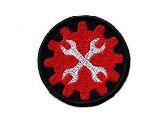 Mechanic Wrench Patch Mechanic's Wrench  Iron/Sew on Badge