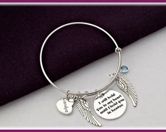 Grandpa memorial bangle, grandpa memorial bracelet, grandpa memorial jewelry, personalized memorial bracelet, birthstone bangle bracelet