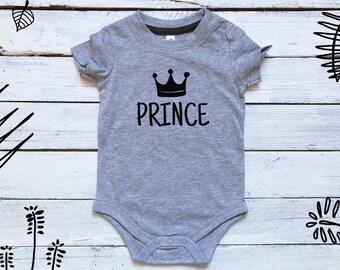 Prince Bodysuit, Prince Charming Onesie, Prince Onesie, Gender Reveal, Gender Reveal Onesie, Prince Baby Onesie, Baby Shower Gift, Baby Boy