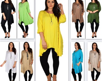 ComfyPlus Tunic, Lagenlook Tunic, Plus size Long Tunic,  Oversize Tunic, Stylish, Versatile, Soft and Comfortable Tunic up to 6XL