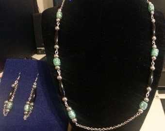 Black Aqua Jewelry Set