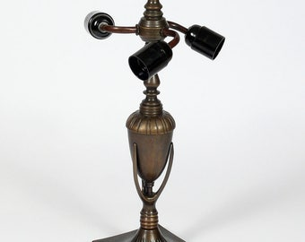 Lamp Stand, Tiffany Lamp Base, Metal Lamp Base, Metal Lamp, Brass Lamp Base, Table Lamp, Lamp Foot, Tiffany Lamp Parts, Glass Lamp Base