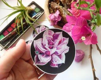 Vinyl Succulent Stickers, Vinyl Stickers, Laptop Stickers, Original Artwork, Succulents, Journaling, Scrapbooking, Garden, Nature, Favors