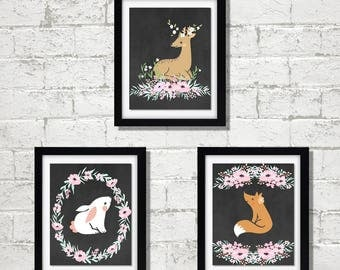 Oh Deer Forest Animals Nursery Art Prints