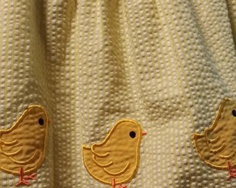 Little baby girl yellow, late 90's vintage baby chick dress.