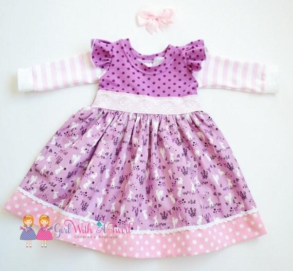 Baby Girl Dress Toddler Dresses Little Girls Dress Purple