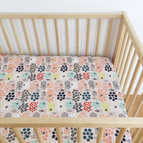 Crib Sheet - 'Flower Shop' Flowers for Sale in Peach - READY-to-SHIP