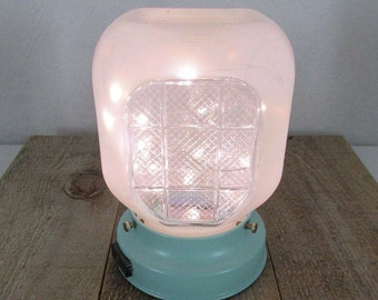 Vintage Light Fixture With Battery Operated LED Lights - Shabby Chic - Home Decor - Re-purposed Salvage - Cordless Lighting