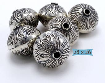 Big Sterling Silver Focal Bead Hand Crafted--1 Pc | PK100-1