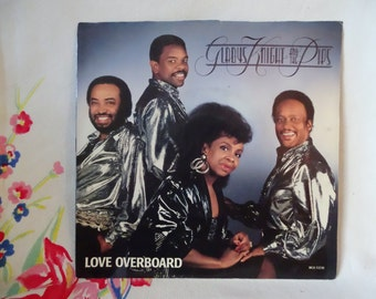 Vintage 1987 Gladys Knight & The Pips 45 Record, Love Overboard 45 Vinyl in Picture Sleeve, Soul Music, Grammy Winning Song, Final Release ~