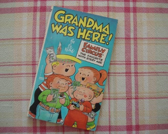 Vintage 80's Family Circus Comic Book, Bill Keane's 'Grandma Was Here' Comicbook, Family Humor Pocketbook, Got Kids? Read This and Laugh!