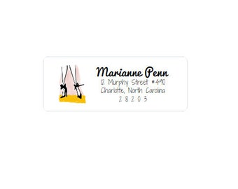 Custom Address Labels - Return Address Stickers - Shoes - Personalized