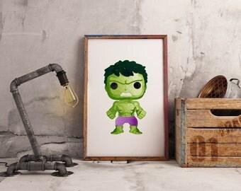 Hulk - Bruce Banner Pop Print