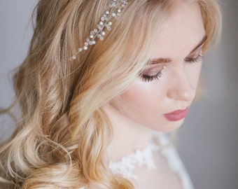Bridal hair wreath, bridal hair vine, Bridal Halo, Crystal Halo, Wedding Headpiece, Bridal Headpiece, Bridal hair piece, Romantic Halo,