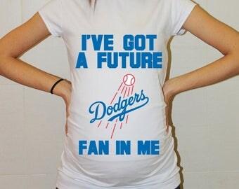 Los Angeles Dodgers Baby Los Angeles Dodgers Shirt Women Maternity Shirt Funny Baseball Pregnancy Pregnancy Shirts Pregnancy Clothing