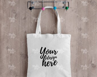 Canvas tote bag mockup /Styled stock photography / Instant download / #0475