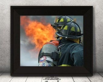Firefighter Room Decor Etsy