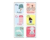 ALPHABET CARDS, PRINTABLE alphabet, Alphabet flash cards, abc cards,alphabet art prints, letter wall art, kids art,nursery prints,kids room