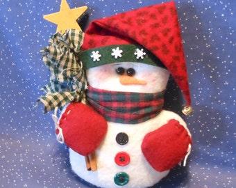 Snowman Ornament, Snowman Doll, Christmas Decor, Holiday Decor, Winter Decor