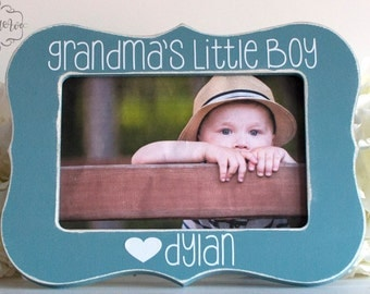 Mothers Day Gift for Grandma Gift for Grandma Personalized Picture Frame Grandma Grandson Picture Frame Grandmas Little Boy 4x6