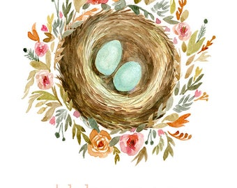 Print your own cards - Mothers Day Nest Card