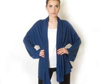 Sale Plus size blue cardigan Oversized Knit Maternity Loose Winter Sweater