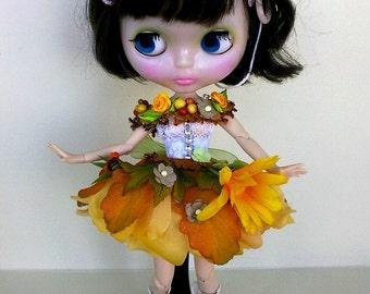 Blythe clothes, Blythe dress, Blythe outfit, Fairy Flowers, clothes Blythe, Blythe clothes, handmade