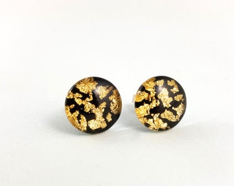 Gold Earthquake Studs