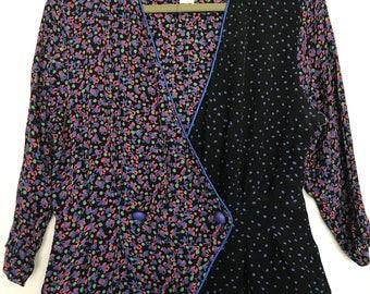 Purple patterned Tareti petites blouse