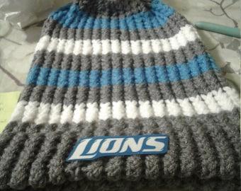 Detroit Lions winter hat