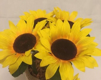 Sunflower Pen, Fall Wedding, Wedding Pen, New Job Gift, Bridal Bouquet, Coworker Gift, Home Decor, Teacher Appreciation , Flower Centerpiece