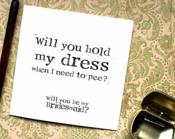 Funny Bridesmaid card, Maid of Honor Card, Bridesmaid Funny, Matron of Honour, Chief Bridesmaid, Maid of Honour, Matron, CB19