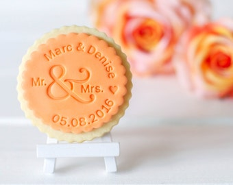 "Cookie stamp ""Mr. & Mrs."""