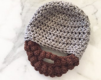 Crochet Beard hat, Crochet baby beard hat, beard hat, baby boy hat, boys hat, crochet beard beanie, crochet men's hat, men's hat