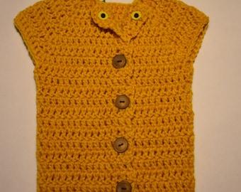 Golden Sunflower 3 to 6 months Vest