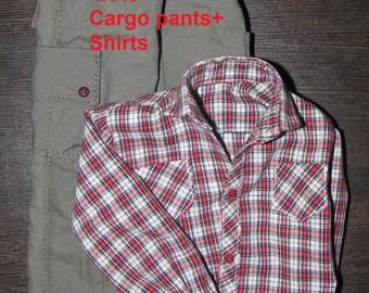 BJD Clothes msd ON Sale 20%  Set Cargo pants +Shirt for JID boy Iplehouse