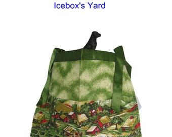 Scenic Handmade Half Apron , Utility Apron, Vendor Apron, Teacher Apron, Pocket Apron, Apron Toolbelt, Craft Apron, Waitress Apron