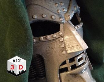 Dr. Doom Mask Replica / Cosplay / Costume / 3-D Printed