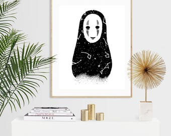 Celestial No Face Luxury Pen & Ink Illustration Print - A5 or A4