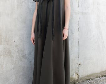 Long maxi dress/Boho dress/Plus size clothing/Long kaftan/Long dress formal/Extravagant dress/Long summer dress/Tunic/Black tunic/D0026