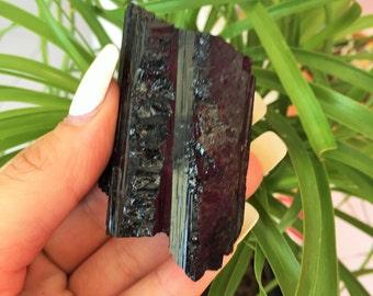 Black Tourmaline Crystal Protection Stone infused w/ Reiki