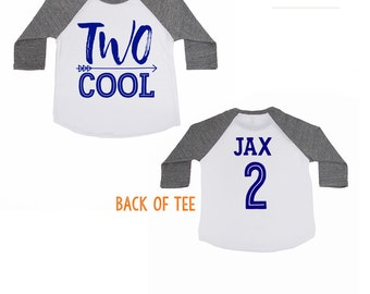 TWO Cool Shirt - 2 year old birthday Shirt - Birthday Boy Shirt - Birthday Girl Shirt - TWO - Toddler Birthday Shirt - 2nd Birthday