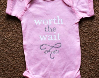 Worth The Wait baby onesie