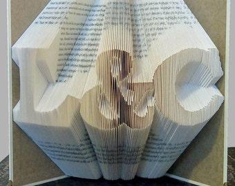 Folded Book Art, Anniversary Gift, Personalized Gift, Boyfriend Gift, Girlfriend Gift, Wedding Decorations, 1st Wedding Anniversary Birthday