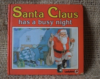 Santa Claus has a Busy Night. A Large Ladybird Book. Series 846. First Edition Gloss Hardback 1985.